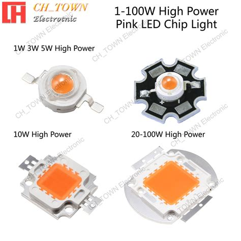 Hpl High Power Led 1w White 1w 3w 5w 10w 20w 30w 50w 100w pink high power led smd chip light ebay
