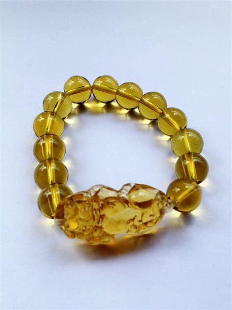 feng shui yellow feng shui citrine yellow pi yao pi xiu bracelet bead for