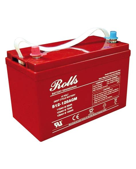 Absorbed Glass Mat Batteries by Rolls S12 128agm 12v