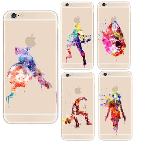 Casing Softclear Iphone 6 The Avenger Custom soft tpu cell phone funda marvel the