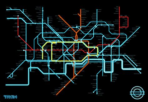 design legacy art tonystoyshop 187 tron legacy fan art tube map 1