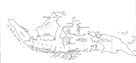 printable peta indonesia indonesia map black and white black and white map of