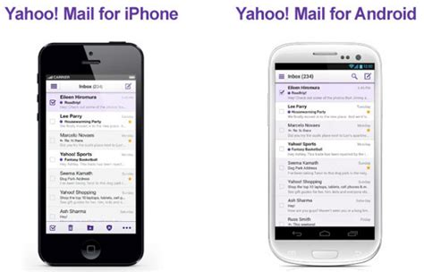 yahoo mail for android yahoo mail for iphone now available android app updated with new features