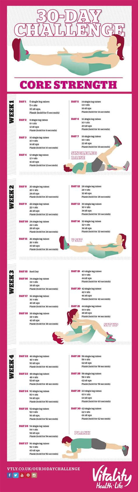 30 day fitness challenges for best 25 60 day challenge ideas on fitness