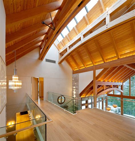 luxury timber frame mountain retreat  whistler