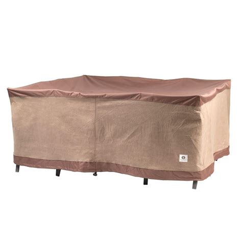 Square Patio Table Covers Duck Covers Ultimate 76 In Square Patio Table And Chair Set Cover Uts07676 The Home Depot