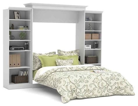 bedroom furniture wall units 115 in queen wall bed with storage units in white