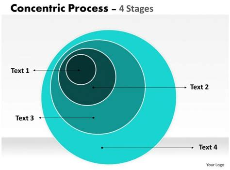 staged concentric circle diagram powerpoint