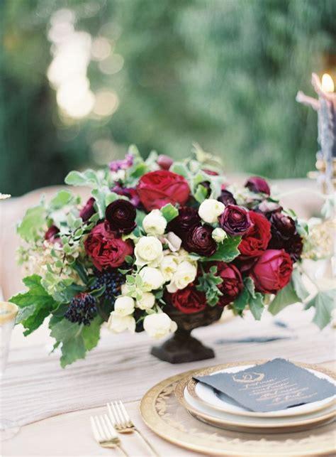 Autumn Wedding Flowers With Burgundy Details Burgundy Wedding Centerpieces