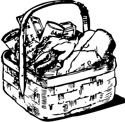 coloring book gift basket basket 20clipart clipart panda free clipart images