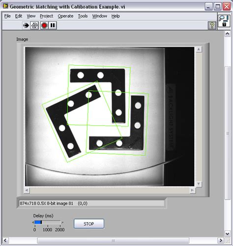 geometric pattern matching labview geometric matching with calibration exle national
