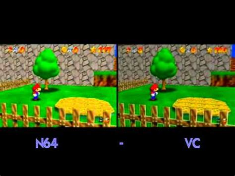 wii vs n64 graphics system n64 vs console on the wii vc
