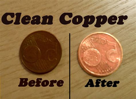 how to clean copper coins with a simple magic trick youtube