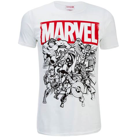 S T Shirt Collections 235g725 marvel s collection t shirt white merchandise zavvi