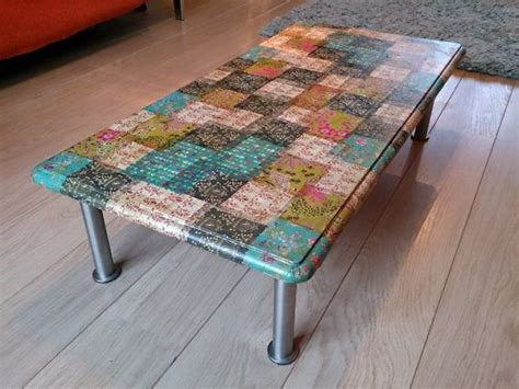 Decoupage On Wood Table - decoupage coffee table homely ideas sewing
