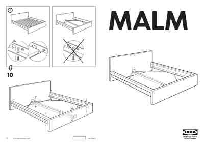 ikea malm bed instructions ikea malm bed frame queen furniture download user guide for free 535b manual guru