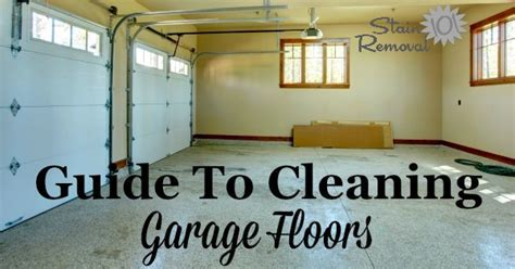 Guide To Cleaning Garage Floors