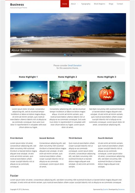 drupal theme exle sites business drupal org