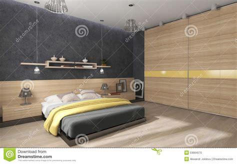 wandschrank schlafzimmer schlafzimmer mit gro 223 em wandschrank stock abbildung bild