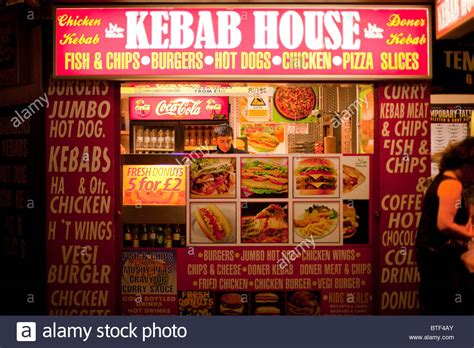 kabob house kebab house kebab house fast food vendor on the promenade at blackpool stock photo