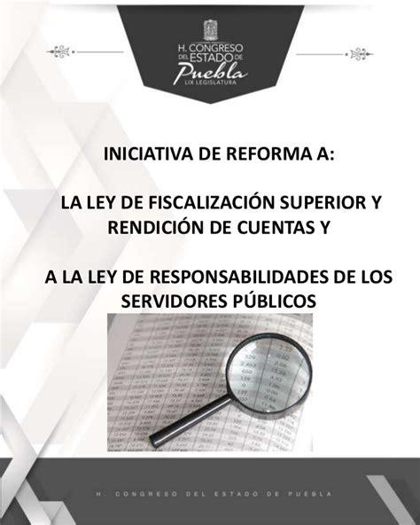 de la iniciativa de reforma fiscal en materia de compra venta de iniciativa de reforma a la ley de fiscalizaci 243 n superior y