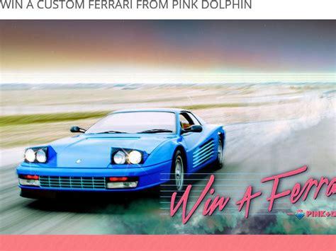 Win A Ferrari by Zumiez Win A Ferrari From Pink Dolphin Sweepstakes