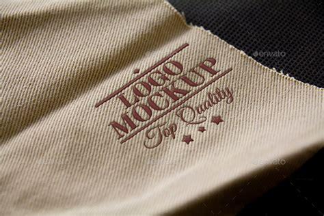 embroidery design mockup logo mockup set 2 natural by krzysztofbobrowicz