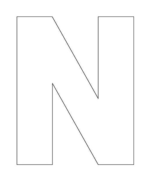 alphabet letter n template for kids quiet book