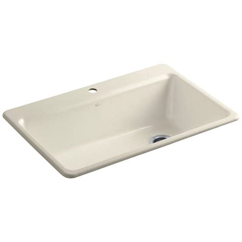 Kohler Kitchen Sink Accessories Kohler Riverby Drop In Cast Iron 33 In 1 Single Basin Kitchen Sink Kit With Accessories In