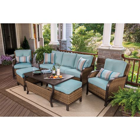 Berkley Jensen Nantucket 6 Piece Wicker Patio Set Bjs Wholesale Patio Furniture Sets