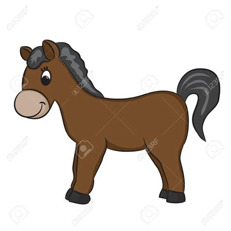 cavallo clipart pony clipart brown pencil and in color pony