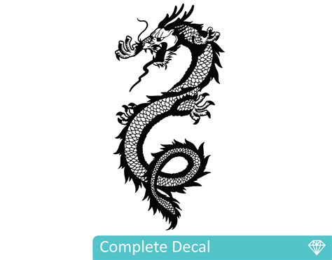 Wall Murals And Decals chinese dragon your decal shop nz designer wall art