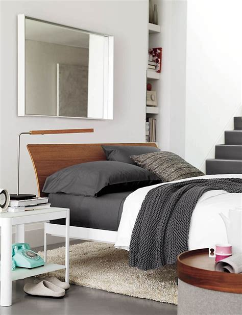 dwr min bed min bedside table with shelf design within reach