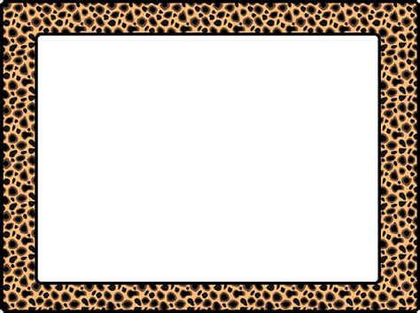 animal print templates leopard print border template clipart best