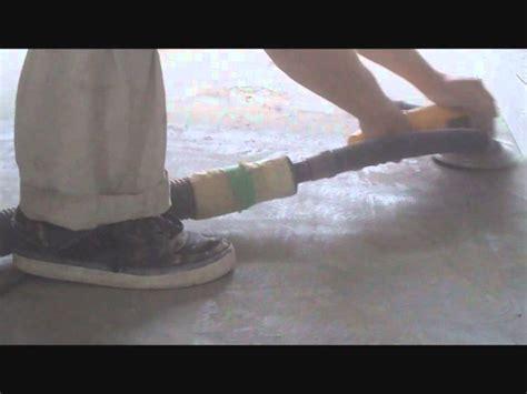 Leveling Uneven Concrete Floor with a Dewalt Grinder How