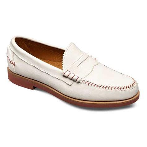 doubleday white baseball leather slip on loafer