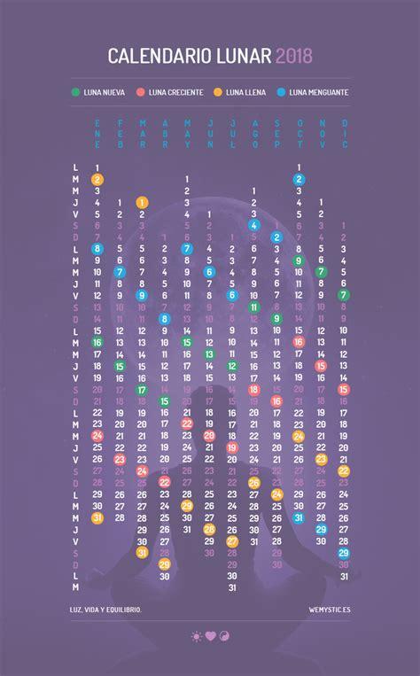 Calendario De Creciente Calendario Lunar Conoce Las Fases De La En 2018