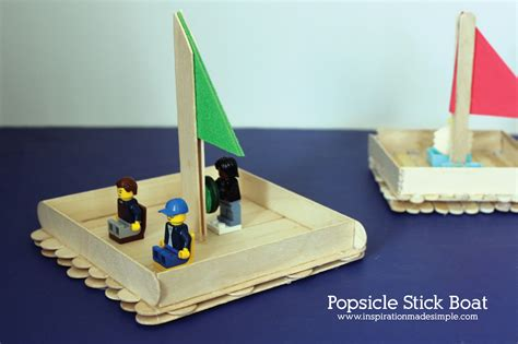 lego yacht tutorial popsicle stick boat kids craft inspiration made simple