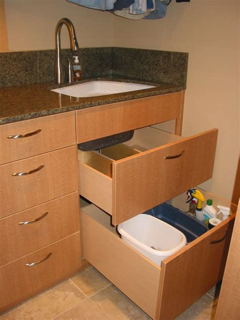 sink storage drawers custom wineroom and cabinet options feist cabinets and