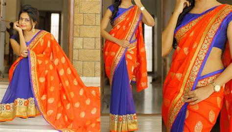 best two color combinations get creative with your two color aka color sarees