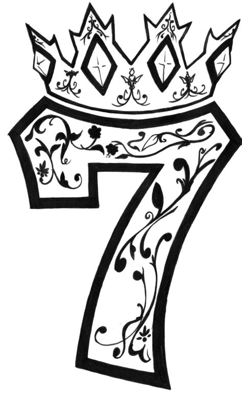 number 7 tattoo lucky number 7 www imgkid the image kid has it