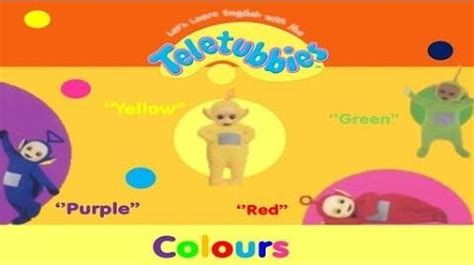 teletubbies names and colors let s learn with the teletubbies colours