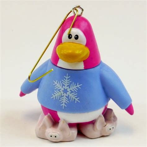 christmas ornament cake topper disney club penguin