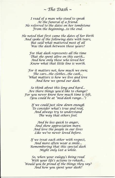 printable version of the dash poem beautiful memorial poem quot the dash quot we could all learn a