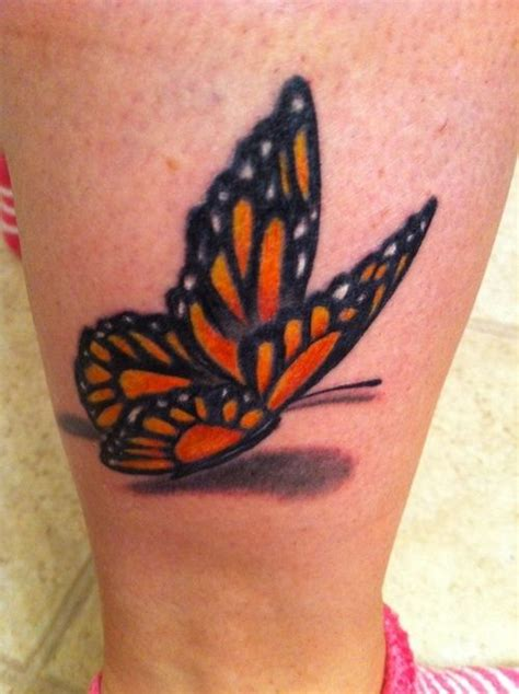 3d leg tattoo 3d butterfly designs blue butterfly flying 3d