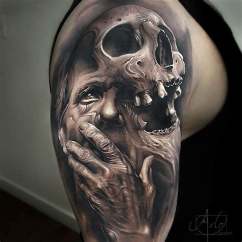 crazy arm tattoo designs 17 best ideas about evil skull 2017 on
