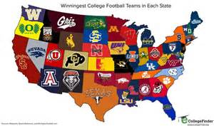 us map by college football the national football league nfl and the national