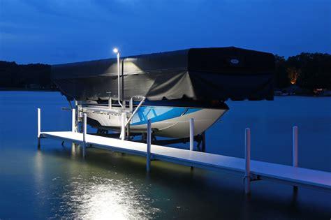 boat lift canopy lights wireless key fob activated boat lift flood light