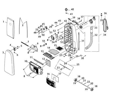 riccar vacuum parts diagram riccar 8900 parts vacuum repair diagrams