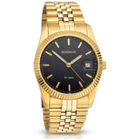 sekonda gold gold stainless steel bracelet mens